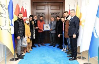 Gırift Dizi Oyuncularından Başkan Güder'e Ziyaret