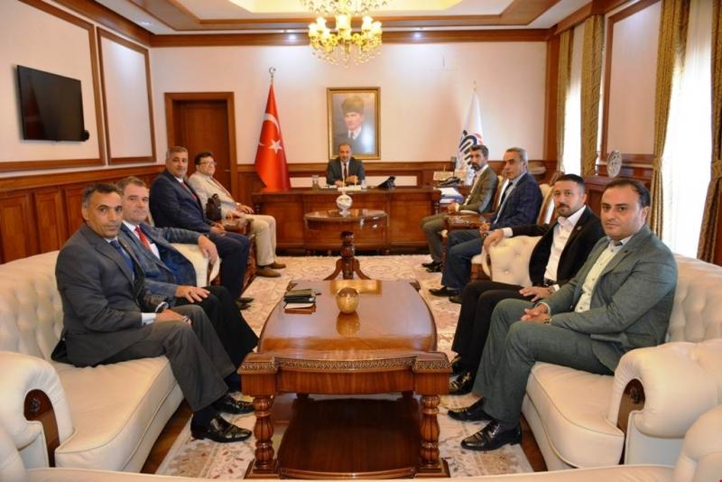 Başkan Aygün'den Vali Kaban'a Ziyaret