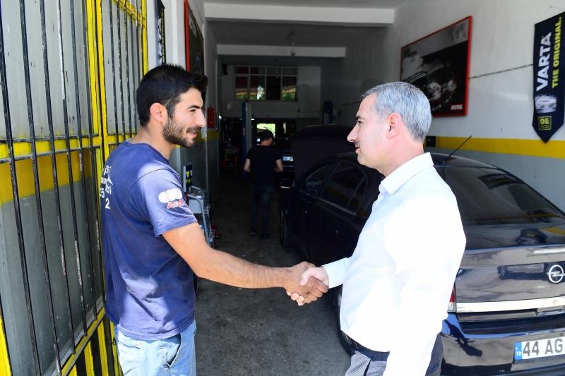 Başkan Çınar, Yeni Sanayi Sitesi esnaflarını ziyaret etti