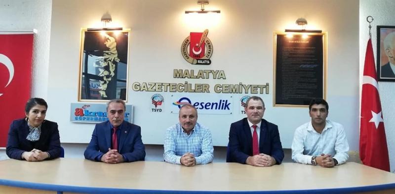 Başkan Zafer Malatya Gazeteciler Cemiyeti'ni Ziyaret Etti