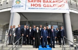Bakan Varank, Büyükşehir Belediyesi Başkanı Gürkan'ı...