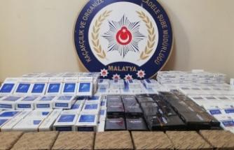 338 paket bandrolsüz kaçak sigara ele geçirildi