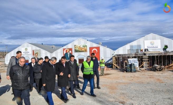 Başkan Gürkan, Yeni Kongre ve Fuar Merkezini İnşaatını İnceledi