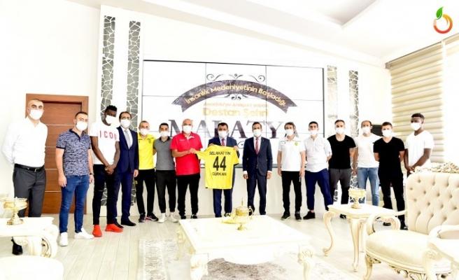 Yeni Malatyaspor'dan Başkan Gürkan'a Ziyaret