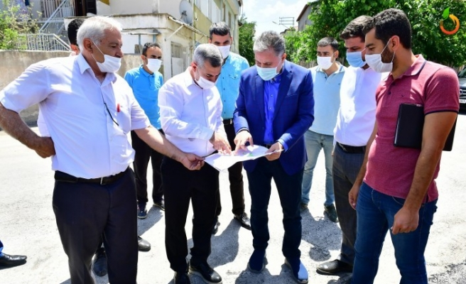 Başkan Çınar, Melekbaba Mahallesinde ki Yatırımları İnceledi