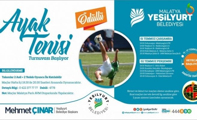 Yeşilyurt Belediyesi Ayak Tenisi Turnuvasının Fikstür Çekimi Yapıldı