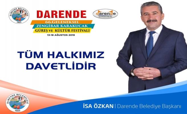 66. Darende Geleneksel Zengibar Karakucak Güreş ve Kültür Festivalı Başladı