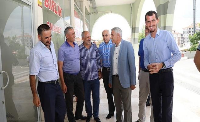 Başkan Güder Doğu Garajı Esnafları İle Bir Araya Geldi