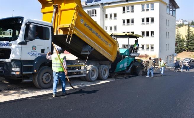 Büyükşehir Arapgir'in Caddelerini Asfaltlıyor