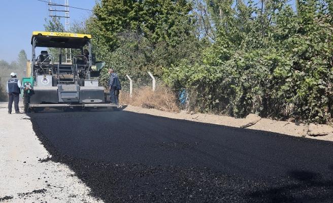 Hasırcılar da sıcak asfalt serimi gerçekleşti