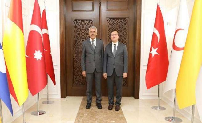 İnönü Üniversitesi Rektörü Prof. Dr. Kızılay, Başkan Güder'i Ziyaret Etti