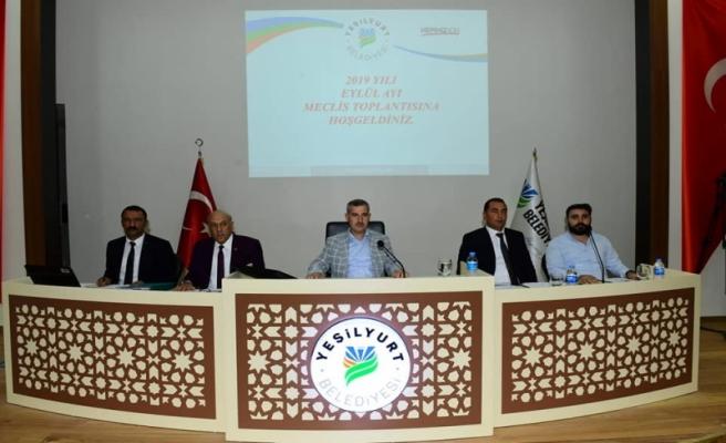 Yeşilyurt Belediye Meclisi Eylül Ayı Toplantısını Yaptı