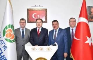 Başdenetçi Malkoç, Başkan Gürkan'ı ziyaret...