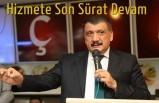 Başkan Gürkan, Hizmete Son Sürat Devam Ediyor