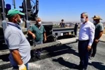 Başkan Çınar, Yeşilyurt'ta Devam Eden Asfalt Çalışmalarını İnceledi