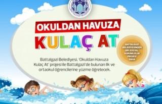 Battalgazi Belediyesi'nden 'Okuldan Havuza...