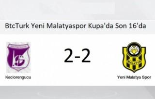 Y. Malatyaspor Kupa'da Son 16'da