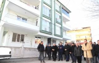 Başkan Güder, Battalgazi'de Zarar Gören Evleri...