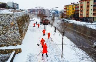 Battalgazi'de Karla Mücadele Çalışması