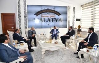 Büyükgümüş, Başkan Gürkan'ı ziyaret etti