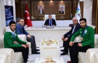 Kıck-Boks Sporcularından Başkan Çınar'a...