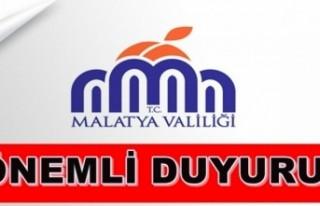 Malatya Valliği'nden Deprem Tespit Açıklaması!...