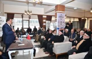 Başkan Gürkan'dan Vefa Konağında Yaşlılarla...