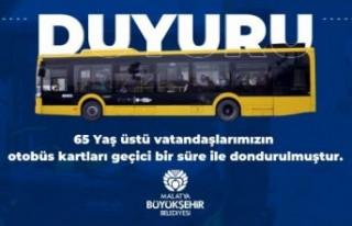 65 Yaş Üstü Vatandaşlara Otobüslerde Korona Engeli