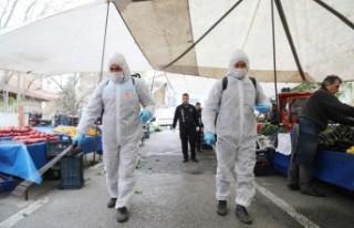 Battalgazi Belediyesi Pazar Yerlerini Dezenfekte Ediyor
