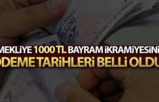 1.000 TL Bayram İkramiye Ödemeleri Başlıyor