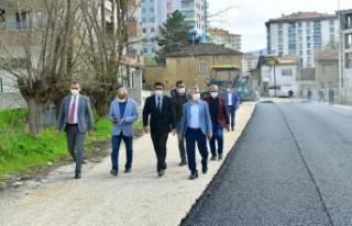Başkan Çınar yol çalışmalarını inceledi