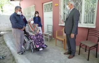 Başkan Güder Engelli Aileleri Sevindirdi