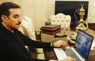 Bülent Tüfenkci video-konferans görüşmesi yaptı
