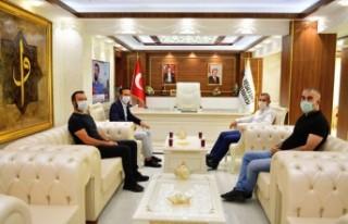 Başkan Çınar, Y.Malatyaspor Kulüp Başkanı Adil...