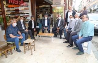 Şire Pazarı Esnafına Başkan Güder'den Sokak...