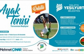 Yeşilyurt Belediyesi Ayak Tenisi Turnuvasının Fikstür...