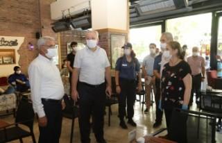 Başkan Güder'den Esnaflara Korona Virüs Denetimi