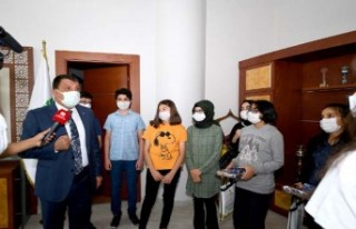 LGS'de Başarılı Olan Öğrencileri Başkan Gürkan'ı...