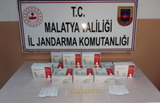 Malatya'da Kaçak Covid-19 hızlı test kiti...