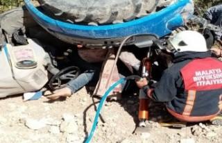 Traktörün altında kalan Şevki Coşkun hayatını...