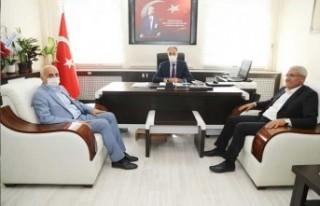 Başkan Güder'den Kaçmaz'a Hayırlı Olsun Ziyareti