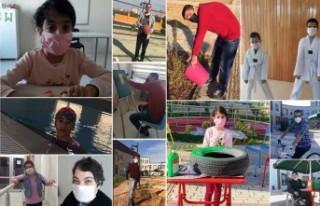 Engelli Çocuklardan Başkan Güder'e Videolu Moral