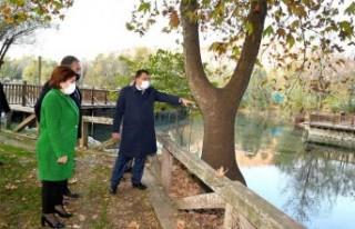 Başkan Gürkan, Tabiat Parkı'nı İnceledi