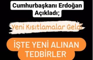 Erdoğan Açıkladı! Hafta İçi Kısıtlama, Hafta...