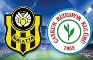 Y. Malatyaspor-Çaykur Rizespor maçında Hüseyin...