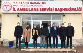 Başkan Yalçınkaya'dan Sağlıkçılara Ziyaret