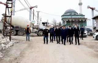 Başkan Gürkan kentsel dönüşüm çalışmalarını...