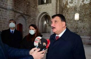 Başkan Gürkan Taşhoron Kilisesi'nde İncelemelerde...