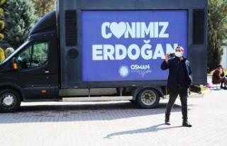 """Battalgazi'de """"Canımız Erdoğan"""" Görseli..."""