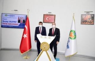 Bakan Yardımcısı Alpay, Başkan Gürkan'ı ziyaret...